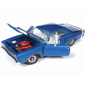Dodge  - Coronet R/T 1969 blue - 1:18 - Auto World - amm1116 - AMM1116 | Tom's Modelauto's