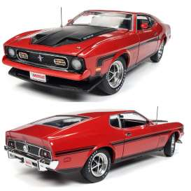 Ford  - Mustang Mach I 1971 red - 1:18 - Auto World - amm1150 - AMM1150 | Tom's Modelauto's