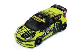 Ford  - Fiesta 2017 yellow/green/black - 1:43 - IXO Models - ram658 - ixram658 | Tom's Modelauto's