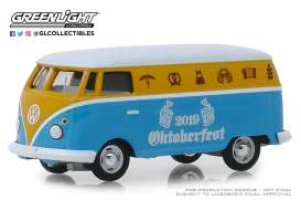 Volkswagen  - Type 2 Panel Van 2019 yellow/blue - 1:64 - GreenLight - 30045 - gl30045 | Tom's Modelauto's