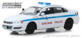 Chevrolet  - Impala 2010 white/blue - 1:43 - GreenLight - 86166 - gl86166 | Toms Modelautos