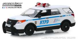 Ford  - 2013 white/blue - 1:43 - GreenLight - 86167 - gl86167 | Tom's Modelauto's