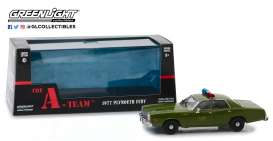 Plymouth  - Fury 1977 army green - 1:43 - GreenLight - 86556 - gl86556 | Tom's Modelauto's