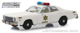 Plymouth  - Fury 1977 white - 1:43 - GreenLight - 86558 - gl86558 | Tom's Modelauto's