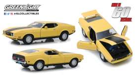 Ford  - Mustang Mach I *Eleanor* 1971 yellow - 1:18 - GreenLight - 12910 - gl12910 | Tom's Modelauto's