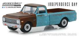 Chevrolet  - C-10 1971 brown/blue - 1:64 - GreenLight - 44840D - gl44840D | Tom's Modelauto's