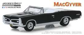 Pontiac  - GTO Convertible 1967 black - 1:64 - GreenLight - 44840F - gl44840F | Tom's Modelauto's