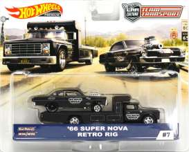 Chevrolet  - Super Nova on Retro Rig 1966 green - 1:64 - Hotwheels - mvFLF56-965C - hwmvFLF56-965C-1 | Tom's Modelauto's