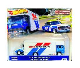 Datsun  - 510 on Fleet Flyer 1971 red/white/blue - 1:64 - Hotwheels - mvFLF56-965C - hwmvFLF56-965C-3 | Tom's Modelauto's