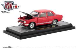 Datsun  - 510 1970 red/white - 1:24 - M2 Machines - 40300jpn02A - M2-40300jpn02A | Tom's Modelauto's