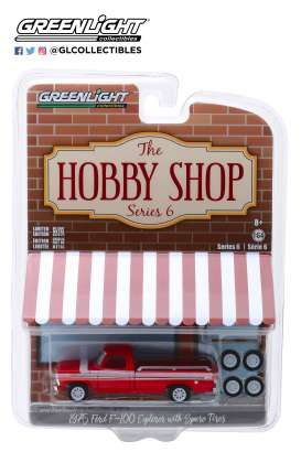 Ford  - 1975 red/white/black - 1:64 - GreenLight - 97060E - gl97060E | Tom's Modelauto's
