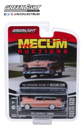 Chevrolet  - Nomad 1955 grey/coral - 1:64 - GreenLight - 37170A - gl37170A | Tom's Modelauto's