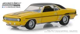 Chevrolet  - Yenko Camaro 1969 yellow - 1:64 - GreenLight - 37170C - gl37170C | Tom's Modelauto's