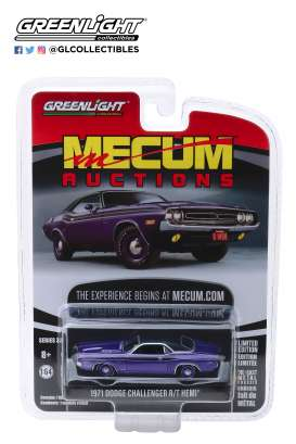 Dodge  - HEMI Challenger 1971 purple - 1:64 - GreenLight - 37170D - gl37170D | Tom's Modelauto's