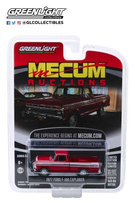 Ford  - F-100 1977 red - 1:64 - GreenLight - 37170F - gl37170F | Tom's Modelauto's