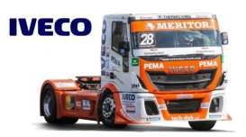 Iveco  - ETR Race orange/white - 1:43 - Bburago - 31070B - bura31070B | Tom's Modelauto's