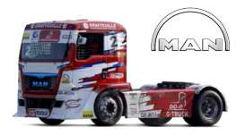 MAN  - ETR Race red/white - 1:43 - Bburago - 31070E - bura31070E | Tom's Modelauto's