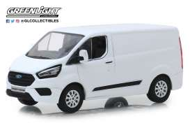 Ford  - Transit Custom V362 MCA 2018 frozen white - 1:43 - GreenLight - 51275 - gl51275 | Tom's Modelauto's