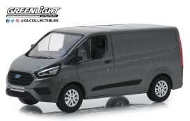 Ford  - Transit Custom V362 MCA 2018 magnetic grey - 1:43 - GreenLight - 51274 - gl51274 | Tom's Modelauto's