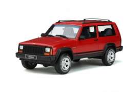 Jeep  - Cherokee 1995 red - 1:18 - OttOmobile Miniatures - 738 - otto738 | Tom's Modelauto's