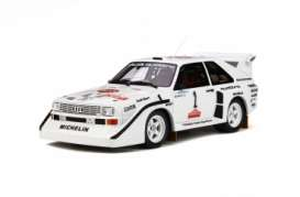 Audi  - Sport Quattro 1985 white/red/black - 1:18 - OttOmobile Miniatures - 757 - otto757 | Tom's Modelauto's