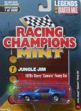 Chevrolet  - Camaro Funny Car *Jungle Jim* 1970 blue - 1:64 - Racing Champions - RC008 - RC008-1 | Tom's Modelauto's