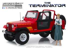 Jeep  - CJ-7 1983 red - 1:18 - GreenLight - 19060 - gl19060 | Toms Modelautos