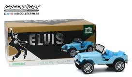 Jeep  - CJ-5 blue - 1:18 - GreenLight - 19061 - gl19061 | Tom's Modelauto's