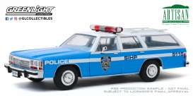 Ford  - LTD Crown Victoria 1988 blue/white - 1:18 - GreenLight - 19062 - gl19062 | Tom's Modelauto's