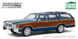 Ford  - LTD Crown Victoria 1979 blue/wood - 1:18 - GreenLight - 19063 - gl19063 | Tom's Modelauto's