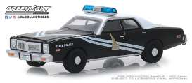 Dodge  - Monaco 1978 black/white - 1:64 - GreenLight - 42880C - gl42880C | Tom's Modelauto's