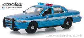 Ford  - Crown Victoria 2010 blue/white - 1:64 - GreenLight - 42880D - gl42880D | Tom's Modelauto's