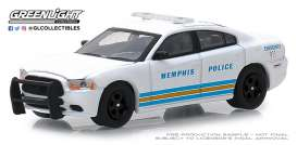 Dodge  - Charger 2011 white/blue - 1:64 - GreenLight - 42880E - gl42880E | Tom's Modelauto's