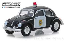 Volkswagen  - Beetle black/white - 1:64 - GreenLight - 42880F - gl42880F | Tom's Modelauto's