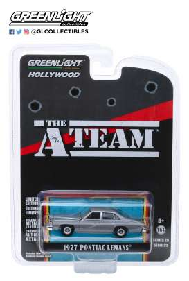 Pontiac  - LeMans 1977 grey - 1:64 - GreenLight - 44850C - gl44850C | Tom's Modelauto's