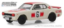 Nissan  - Skyline 2000GT 1971 white - 1:64 - GreenLight - 47040B - gl47040B | Tom's Modelauto's