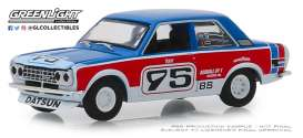 Datsun  - 510 1973 red/blue/white - 1:64 - GreenLight - 47040D - gl47040D | Toms Modelautos