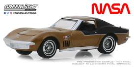 Chevrolet  - Corvette 1969 gold - 1:64 - GreenLight - 30073 - gl30073 | Tom's Modelauto's