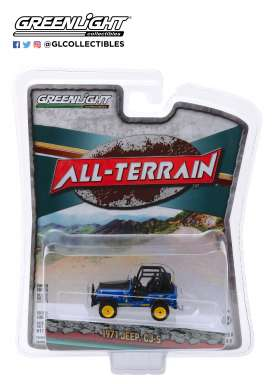 Jeep  - CJ-5 1971 blue - 1:64 - GreenLight - 35130B - gl35130B | Tom's Modelauto's