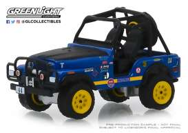 Jeep  - CJ-5 1971 blue/black - 1:64 - GreenLight - 35130B - gl35130B | Tom's Modelauto's