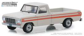 Ford  - F-250 Explorer 1979 white/orange - 1:64 - GreenLight - 35130D - gl35130D | Tom's Modelauto's