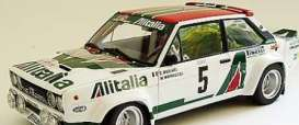 Fiat  - 131 Abarth Rally 1979 white/red/green - 1:18 - IXO Models - rmc028B - ixrmc028B | Tom's Modelauto's