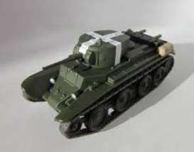 Russian Tanks  - BT-7 camouflage green - 1:72 - Magazine Models - TA-74 - magTA-74 | Toms Modelautos