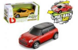 Mini Cooper - red/black - 1:43 - Bburago - 30503R - bura30503R | Tom's Modelauto's