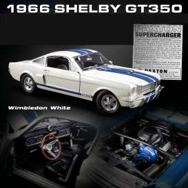Shelby  - GT350 Supercharged 1966 white/blue - 1:18 - Acme Diecast - 1801833 - acme1801833 | Toms Modelautos