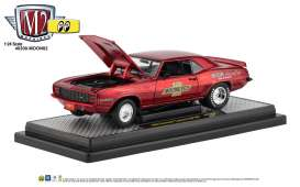 Chevrolet  - Camaro  1969 red/black - 1:24 - M2 Machines - 40300moon02A - M2-40300moon02A | Tom's Modelauto's