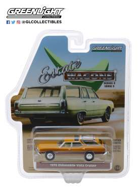 Oldsmobile  - Vista Cruiser 1970 nugget gold/wood - 1:64 - GreenLight - 29950C - gl29950C | Tom's Modelauto's