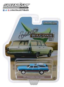 Oldsmobile  - Vista Cruiser 1970 viking blue/wood - 1:64 - GreenLight - 29950D - gl29950D | Tom's Modelauto's