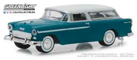 Chevrolet  - Nomad 1955 turquoise/ivory - 1:64 - GreenLight - 29950A - gl29950A | Tom's Modelauto's