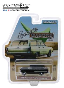 Chevrolet  - Two-Ten Handyman 1955 black - 1:64 - GreenLight - 29950B - gl29950B | Tom's Modelauto's